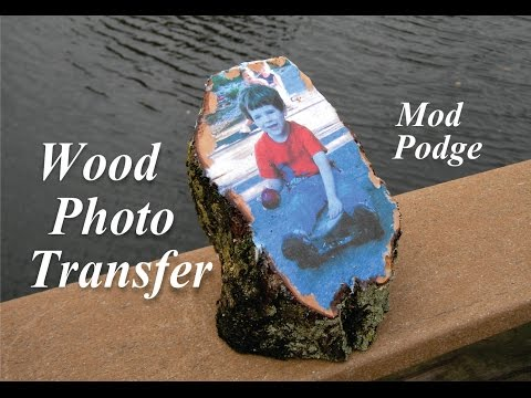 DIY Easy Mod Podge Wood Photo Transer