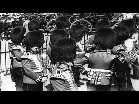 King George V and Queen Mary during the Silver Jubilee celebrations in London, En...HD Stock Footage