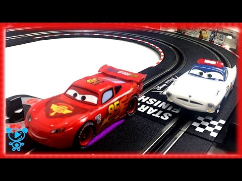 Cars for children Carrera Go Mcqueen on race track sport cars for kids toys video for children 4k