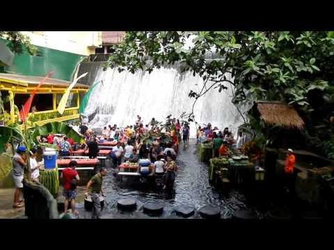 Waterfall Restaurant Villa Escudero overlook