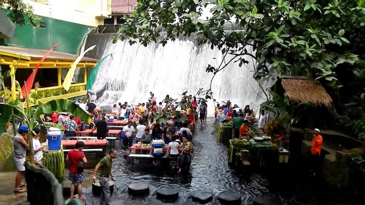 Waterfall Restaurant Villa Escudero Overlook Youtube