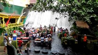 Waterfall Restaurant Villa Escudero overlook