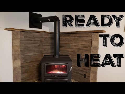 Wood Stove Install- Stove Pipe And First Fire