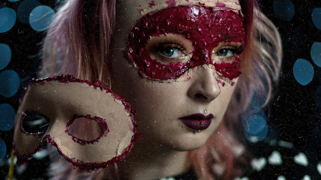Krwawa Maska Tutorial Na Halloween Red Lipstick Monster
