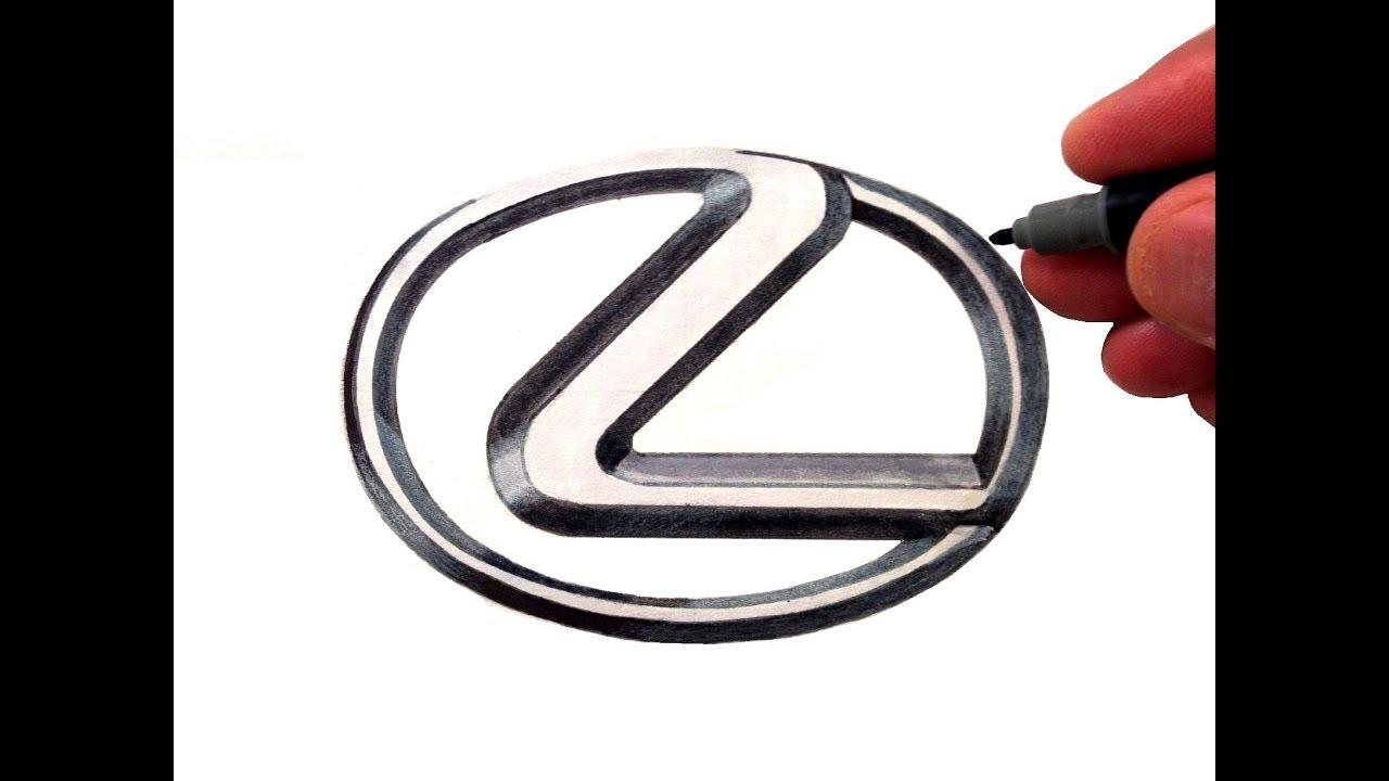 lexus logo. how to draw the lexus logo