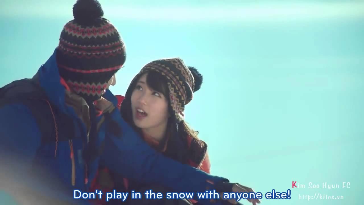 Engsub Kim Soo Hyun Miss A Suzy Bean Pole Cf 2012 Winter Version 15s Youtube