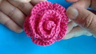 Вязаные цветы - Урок 3 - Роза с лепесточками
