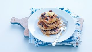 Fluffy wholegrain blueberry pancakes – Savory