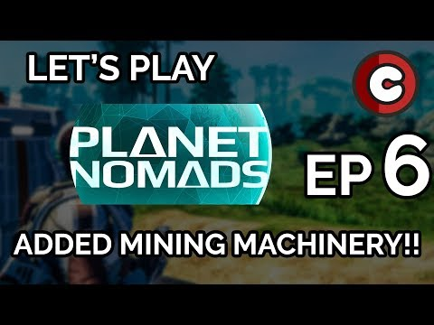Planet Nomads Ep 6: Made a MINING MACHINE!