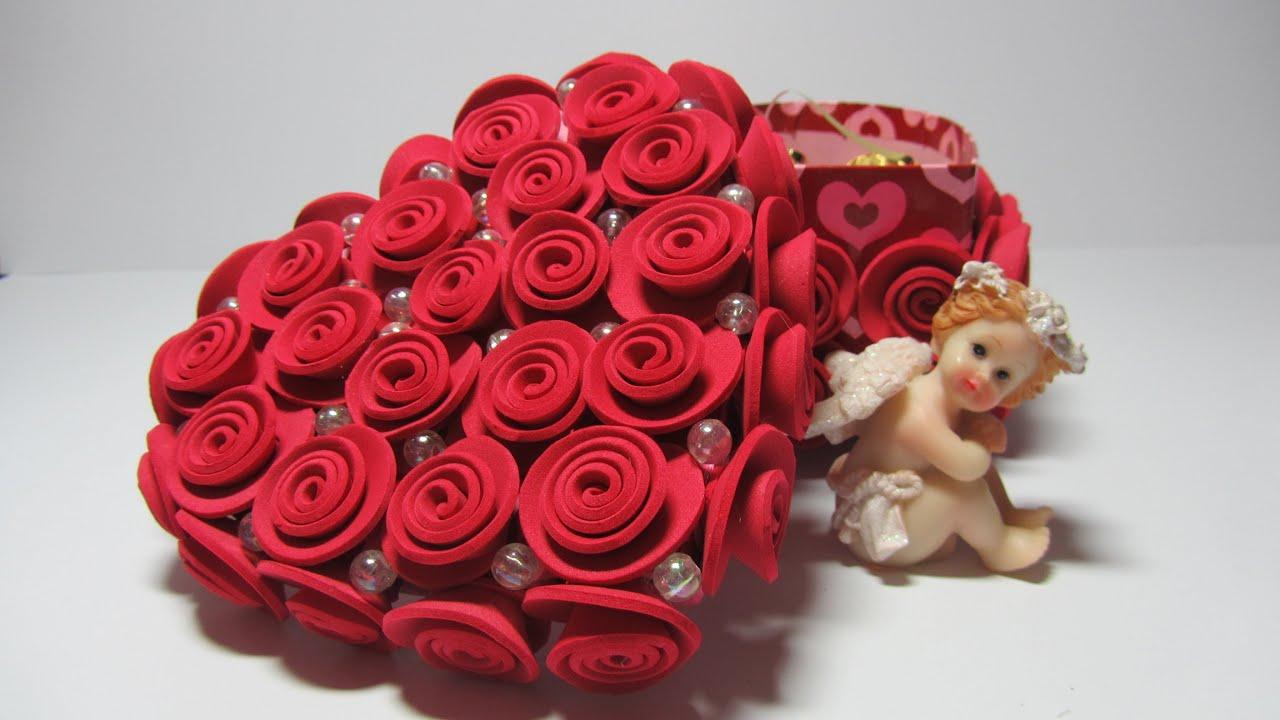 Tutorial caja con rosas de goma eva youtube - Flore de goma eva ...