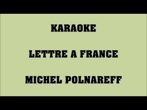 Lettre à France - Michel Polnareff - KARAOKE