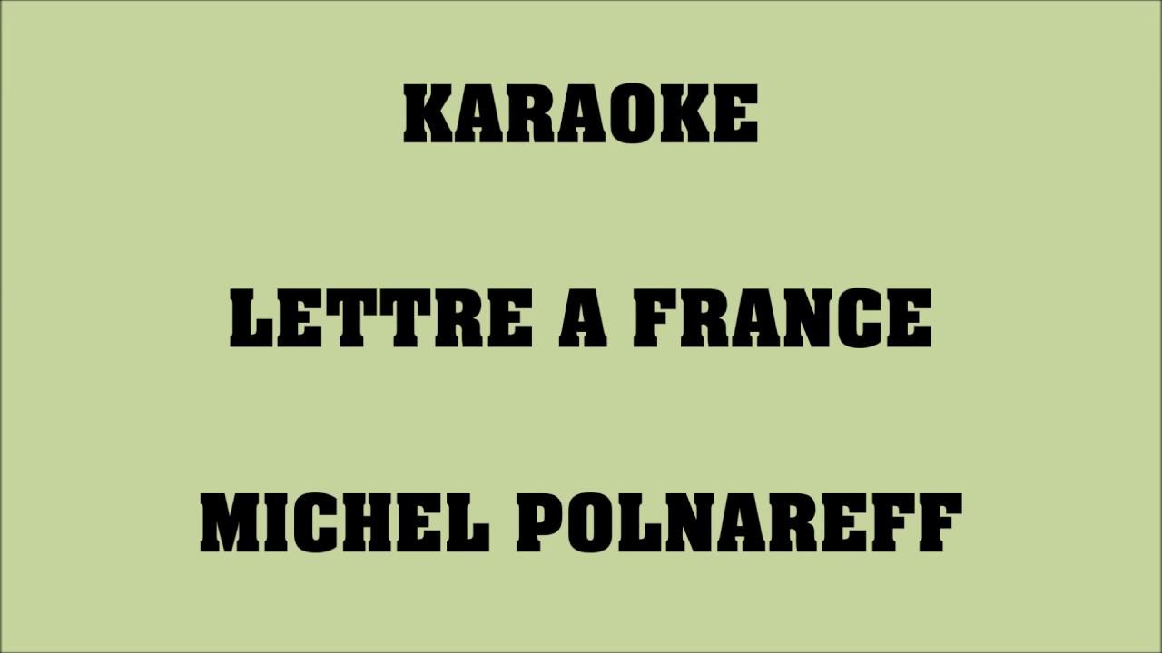 karaoké lettre a france Lettre à France   Michel Polnareff   KARAOKE   YouTube karaoké lettre a france