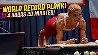 Dana Glowacka World Record PLANK 4 Hours & 20 Minutes!