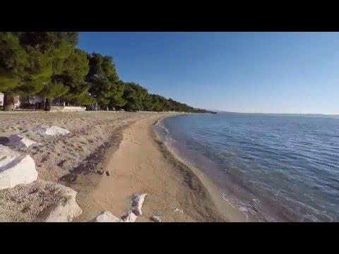 tucepi kamena kraj beach - makarska riviera in 4k time lapse, dalmatia, croatia 22/01/2016
