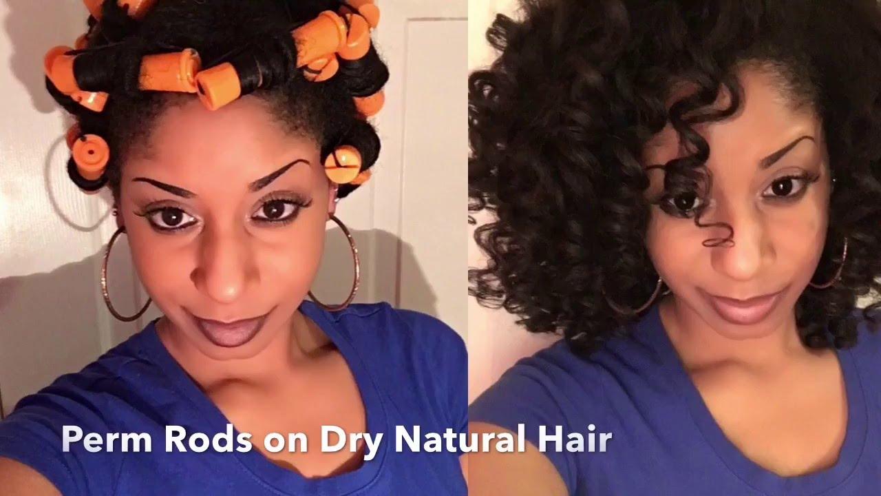 Perm Rod Set On Dry Hair Natural Hair Trophdoph By Trophdoph