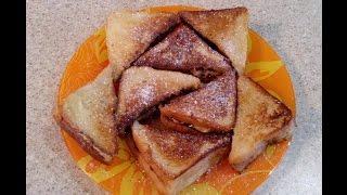 Горячие сэндвичи с шоколадом и бананами. Вкусные сладкие горячие бутерброды, простой рецепт