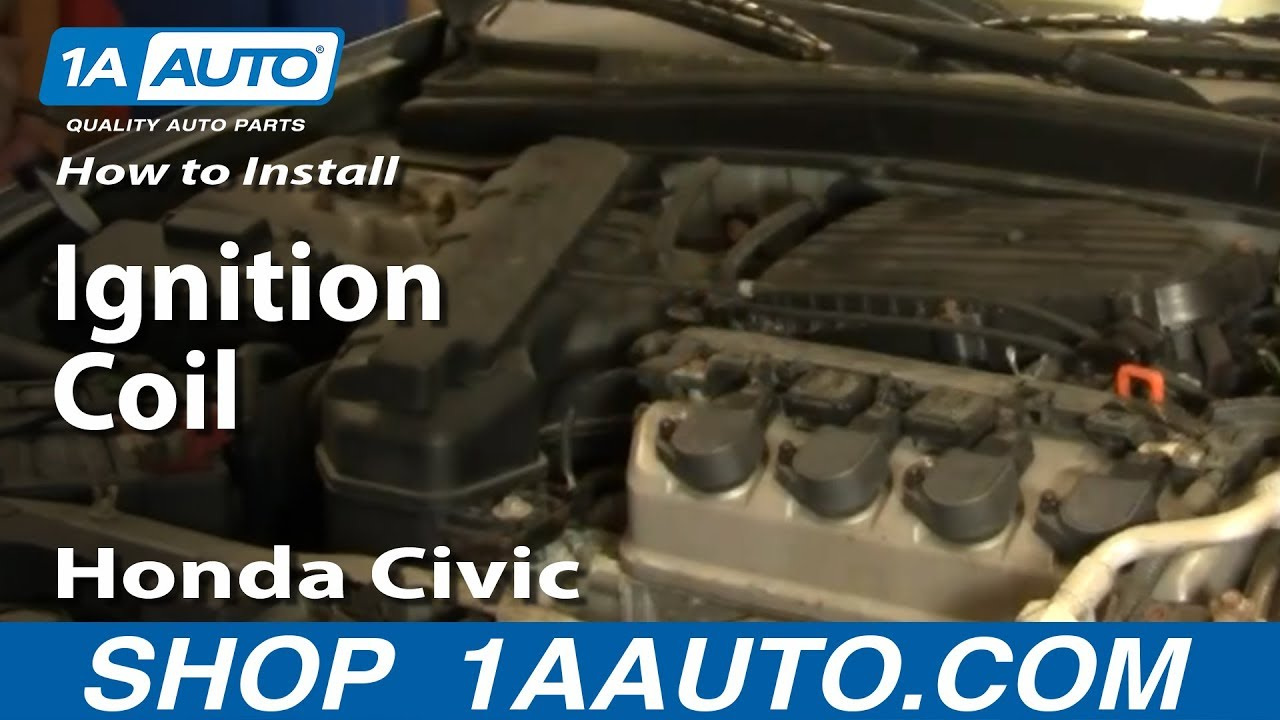 small resolution of how to install replace ignition coil honda civic 01 05 1aauto com youtube