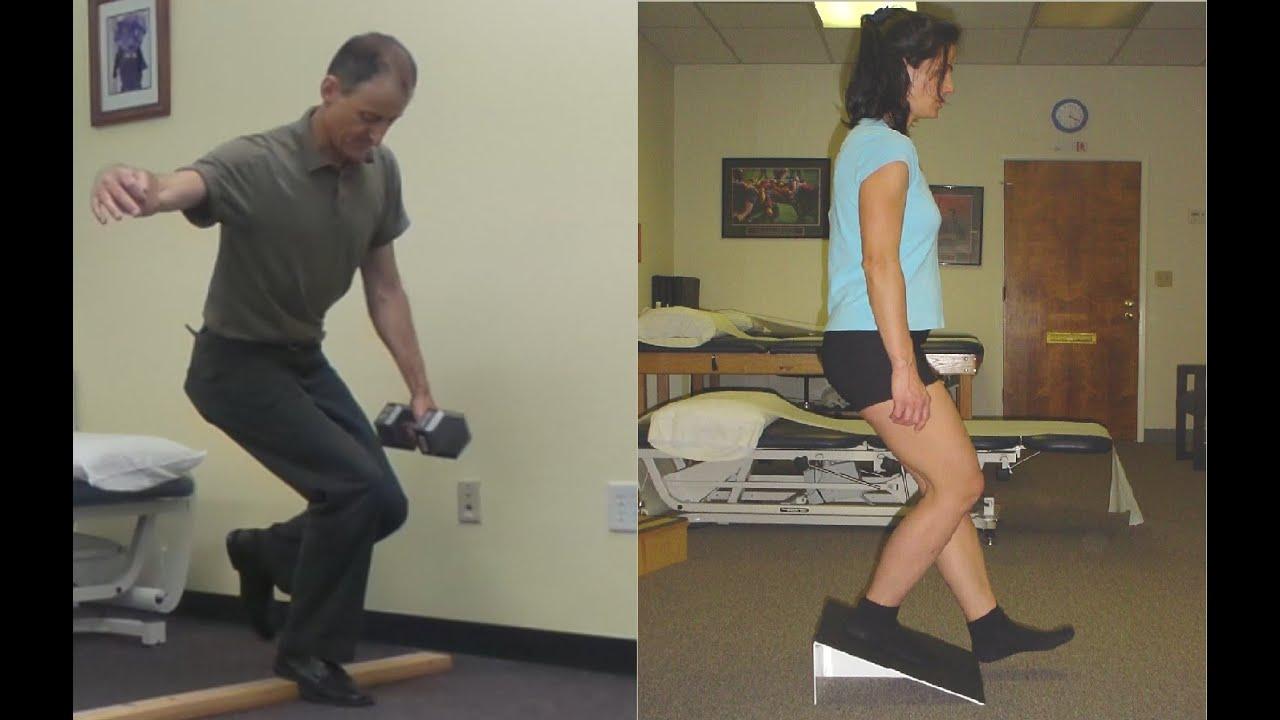 Decline squat patella tendon eccentric loading exercise ...