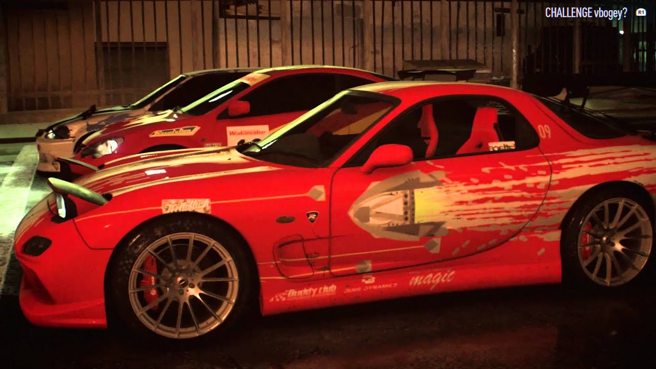 The Fast and the Furious Toretto's Mazda Rx-7 - Need for Speed - YouTube