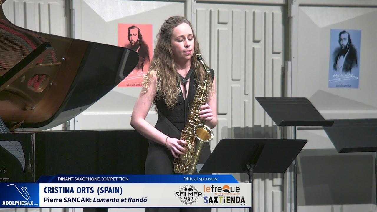 Cristina Orts (Spain) - Lamento et Rondó by Pierre Sancan (Dinant 2019)