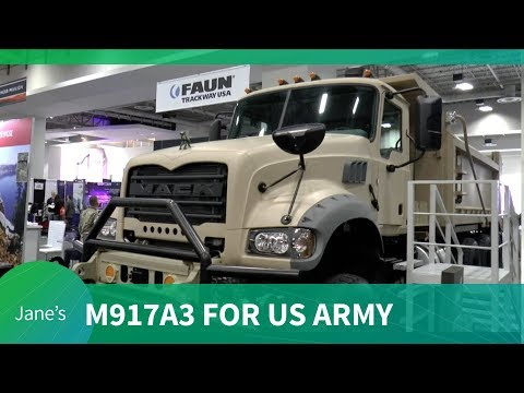 AUSA 2018: Mack Defense M917A3 Heavy Dump Truck for US Army