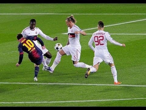 Lionel Messi ● Goal Vs Milan 2013