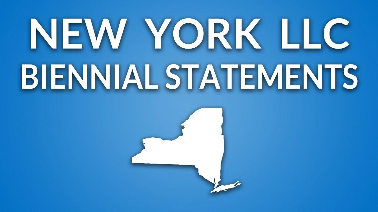 New York Llc Annual Report Biennial Statement Youtube
