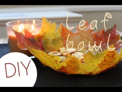 DIY Leaf Bowl (Fall Home Decor)