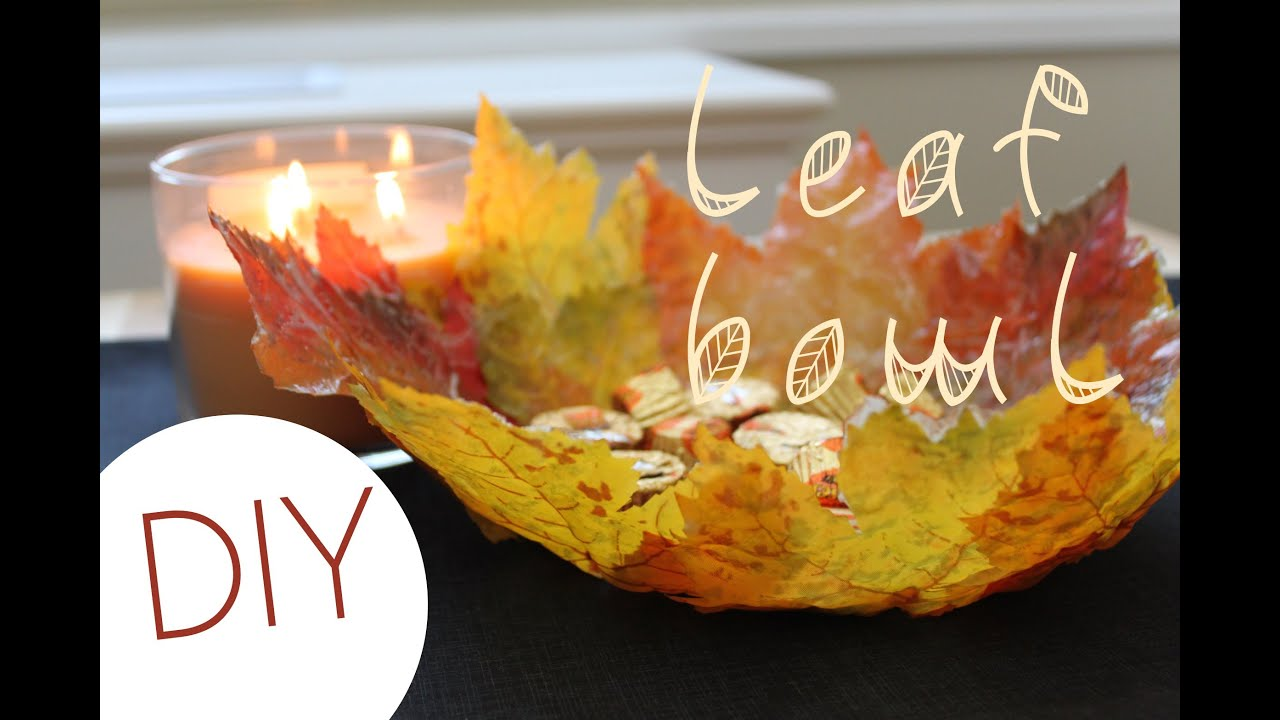Paper Decorations To Make At Home Diy Leaf Bowl Fall Home Decor Youtube
