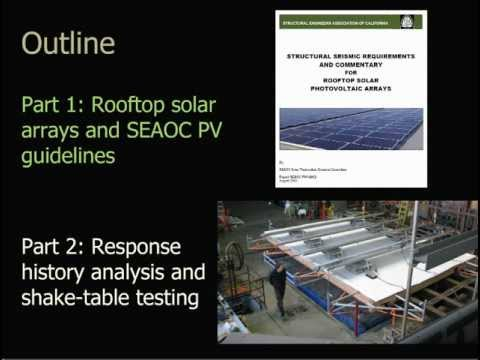Seismic Design of Solar Arrays on Flat Roofs