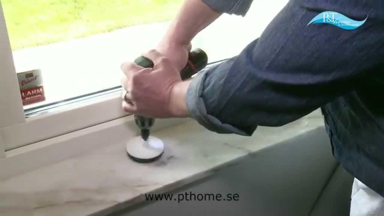 Polera och reparera marmor och andra stenytor med pt professional ...