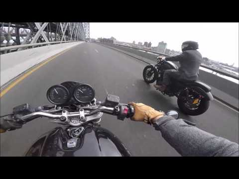 Ducati NYC v119 - Manhattan to Brooklyn through weekend traffic