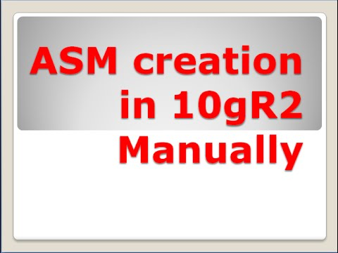 How to create an Oracle ASM Instance Manually