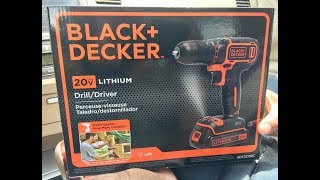 Black & Decker 20V Max Drill Review