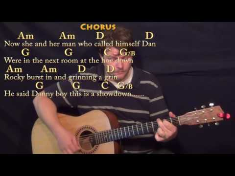Rocky Raccoon (The Beatles) Guitar Lesson Chord Chart with On-Screen Lyrics