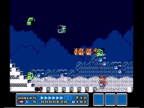 Super Mario All Stars Super Mario Bros 3 SNES Glitch level 88
