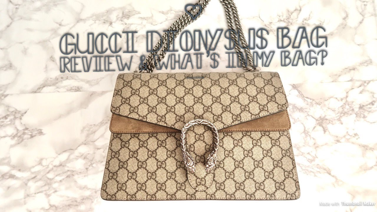 81e79cd296b Gucci Dionysus bag Review   what s in my bag - YouTube