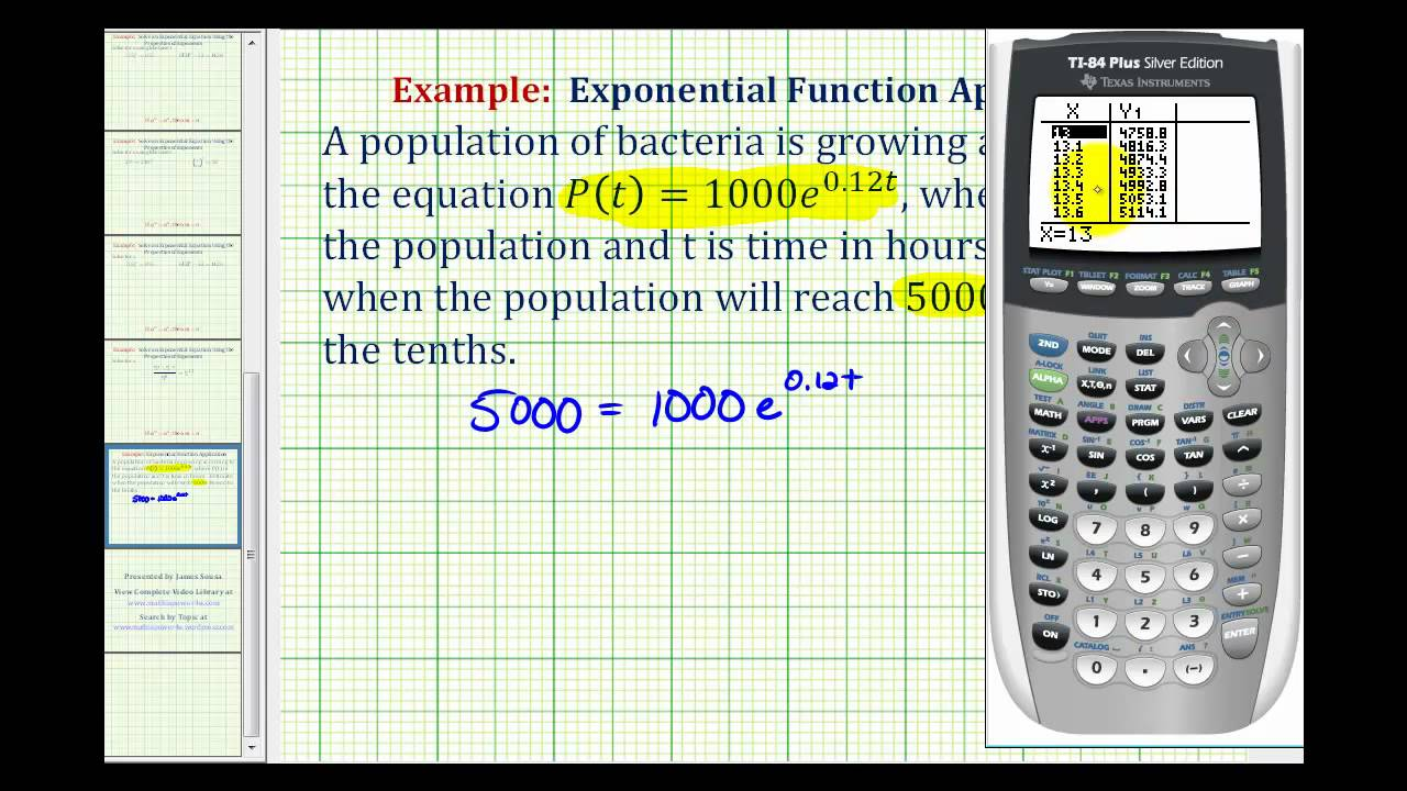Ex: Exponential Application Solved Using a Graphing Calculator