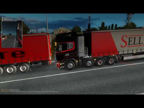 Euro truck simulator 2 Traffic Harwitch Ferry Port To Rotterdam