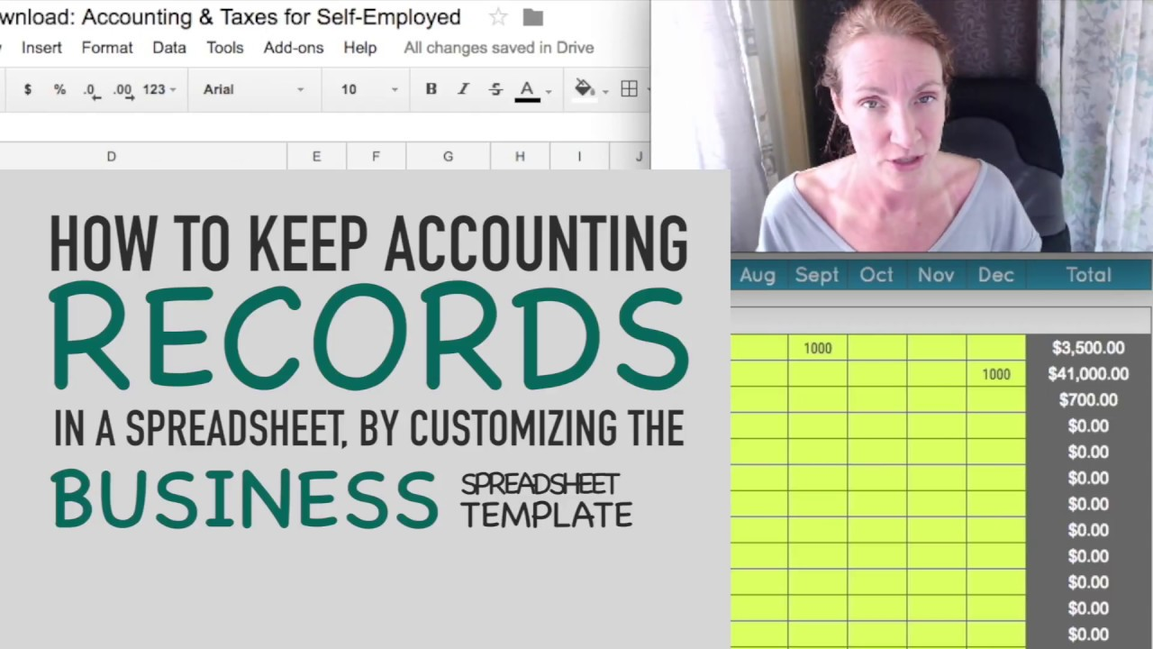 How To Keep Accounting Records In a Spreadsheet (By Customizing the Biz  Spreadsheet Template!)