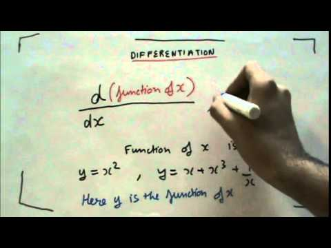 DIFFERENTIATION PART 1  ( Hindi )