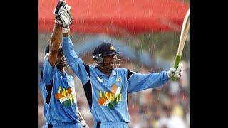 Rare India v New Zealand World Cup 2003 ! NZ 146 all out and Kaif and Dravid