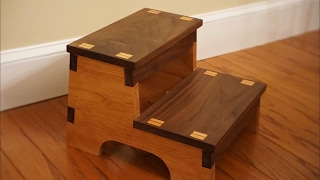This is a step stool that I made as gift for someone. I based it off a design that had used screws to hold it together, so I added some
