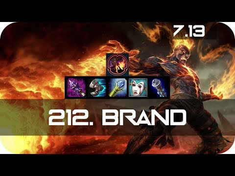 Brand Top vs Riven Season 7 s7 Patch 7.13 2017 Gameplay Guide Build Normals