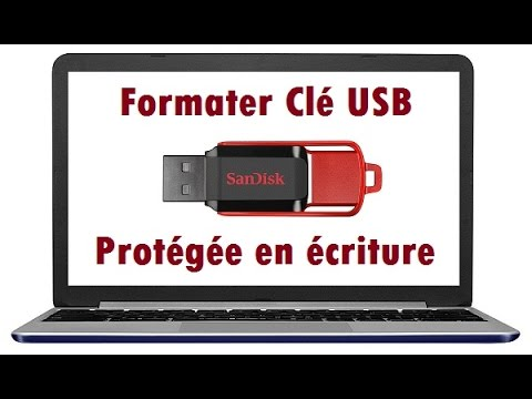 comment formater une cl usb prot g e en criture youtube. Black Bedroom Furniture Sets. Home Design Ideas