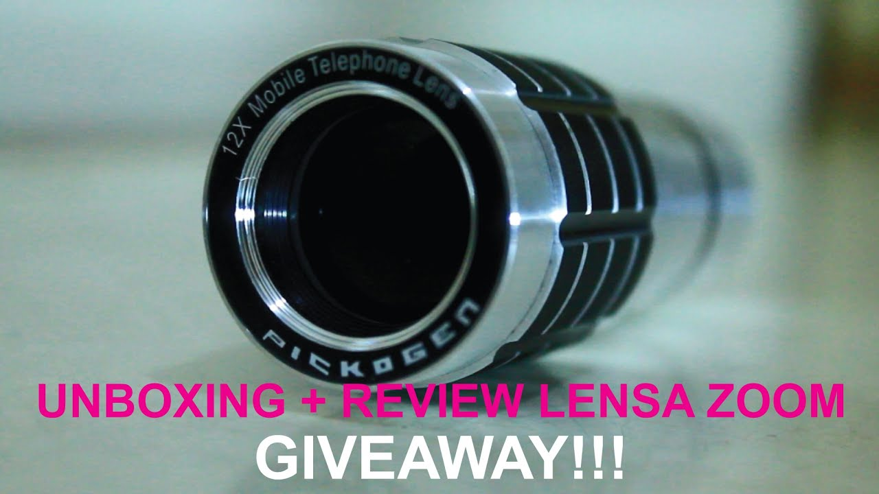 Unboxing review lensa zoom pickogen untuk hp with giveaway