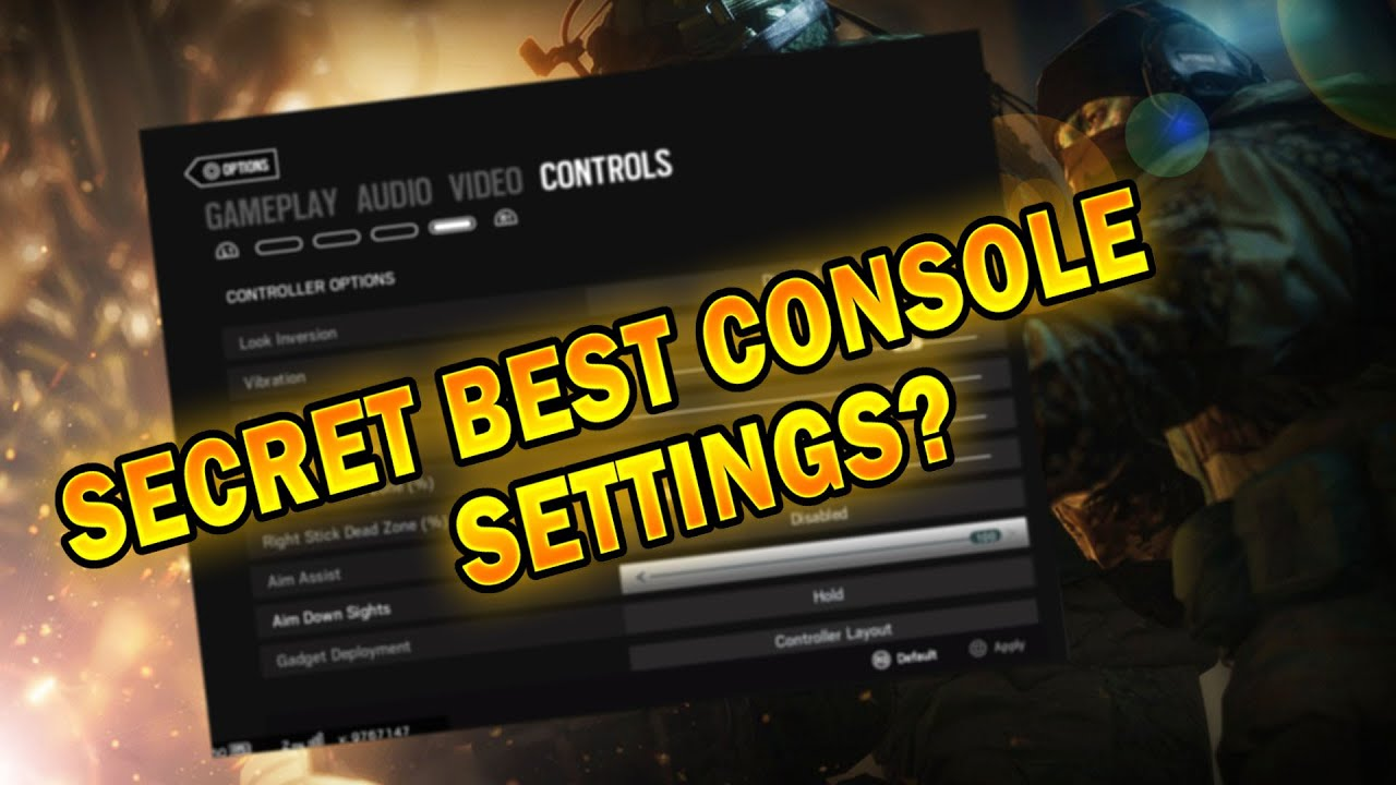 I'm using THE best sensitivity for console players!!! (Rainbow six siege)  *Rank Play*