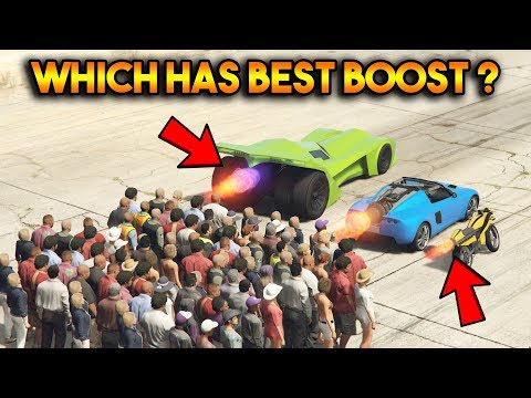 GTA 5 ONLINE : VIGILANTE VS OPPRESSOR VS ROCKET VOLTIC (WHICH HAS STRONGEST BOOST?)