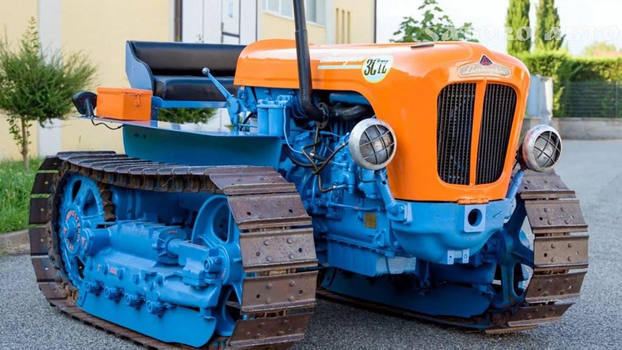 Гусеничный трактор Lamborghini 3 CTL. Да,такой существовал.