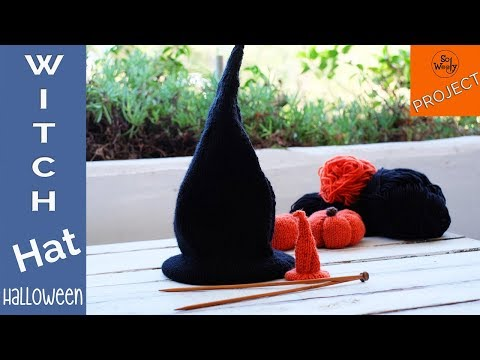 How to knit a Witch-Wizard-Warlock Hat for Halloween -So Woo